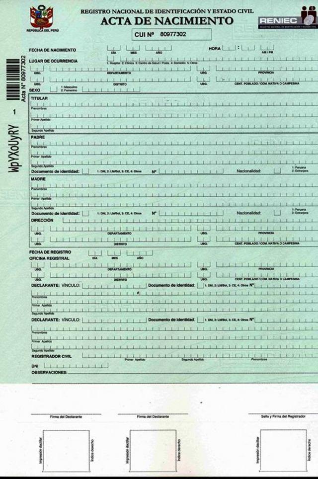 Registro Nacional de Identificación y Estado Civil :: RENIEC